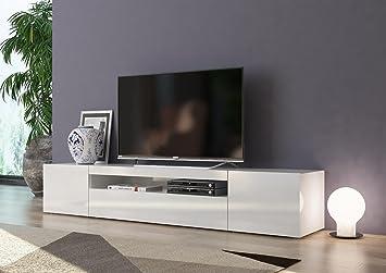 Lowboard Tv Board Daiquiri Italian Design Hochglanz 200cm Weiss