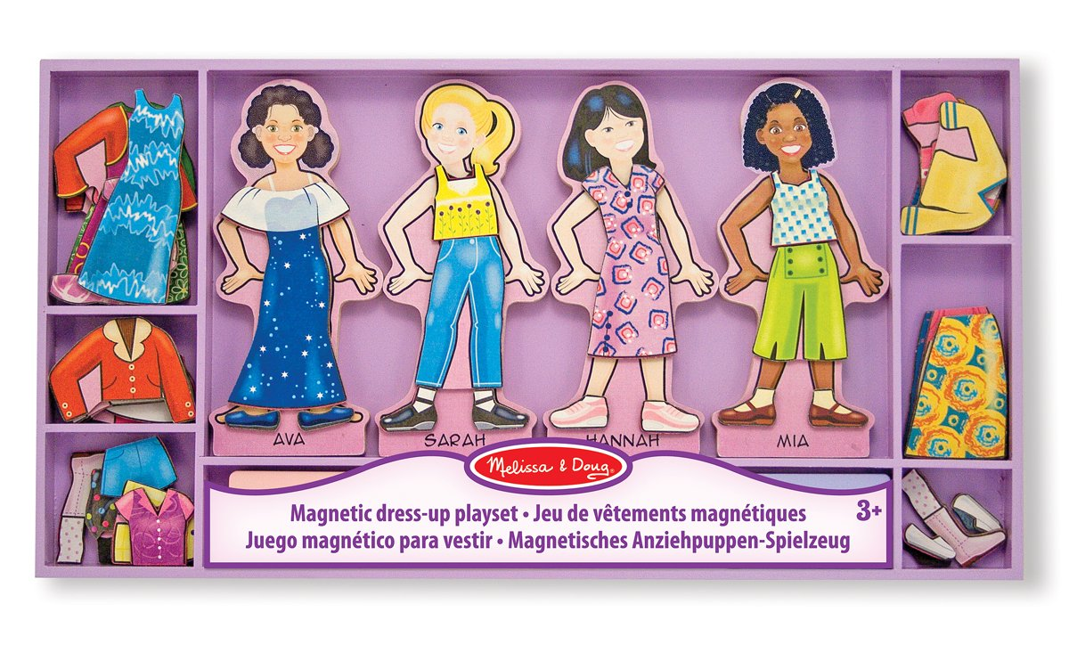 Melissa & Doug - Best Friends Beste Freunde Magnetische Anzieh Puppen Spielzeug 13549