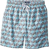 Vilebrequin Kids Boy's Fishes Cube Swim Trunk (Big Kids) Grey/Blue 10 Years