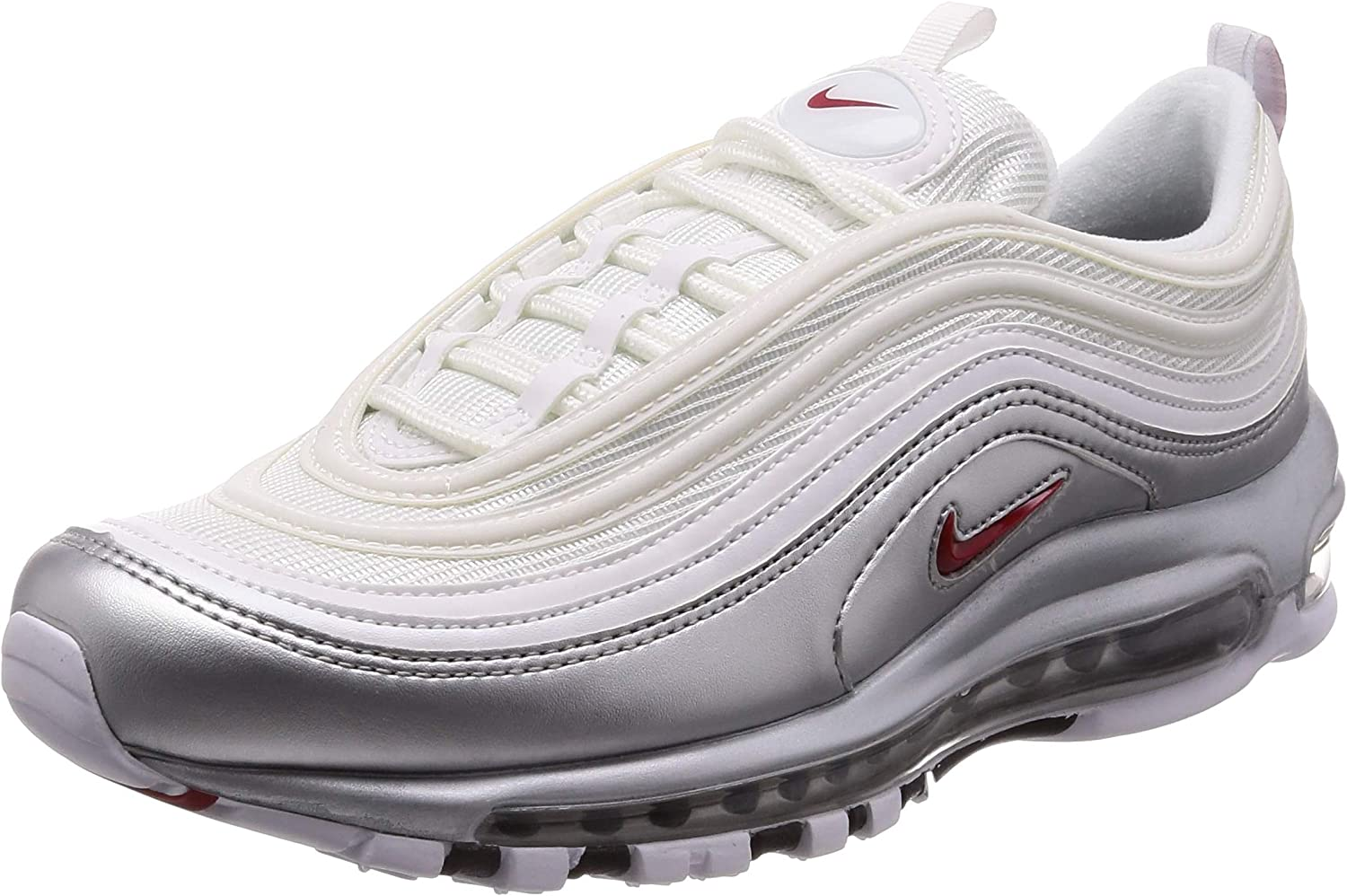 Amazon Com Nike Mens Air Max 97 Qs White Varsity Red Synthetic Shoes