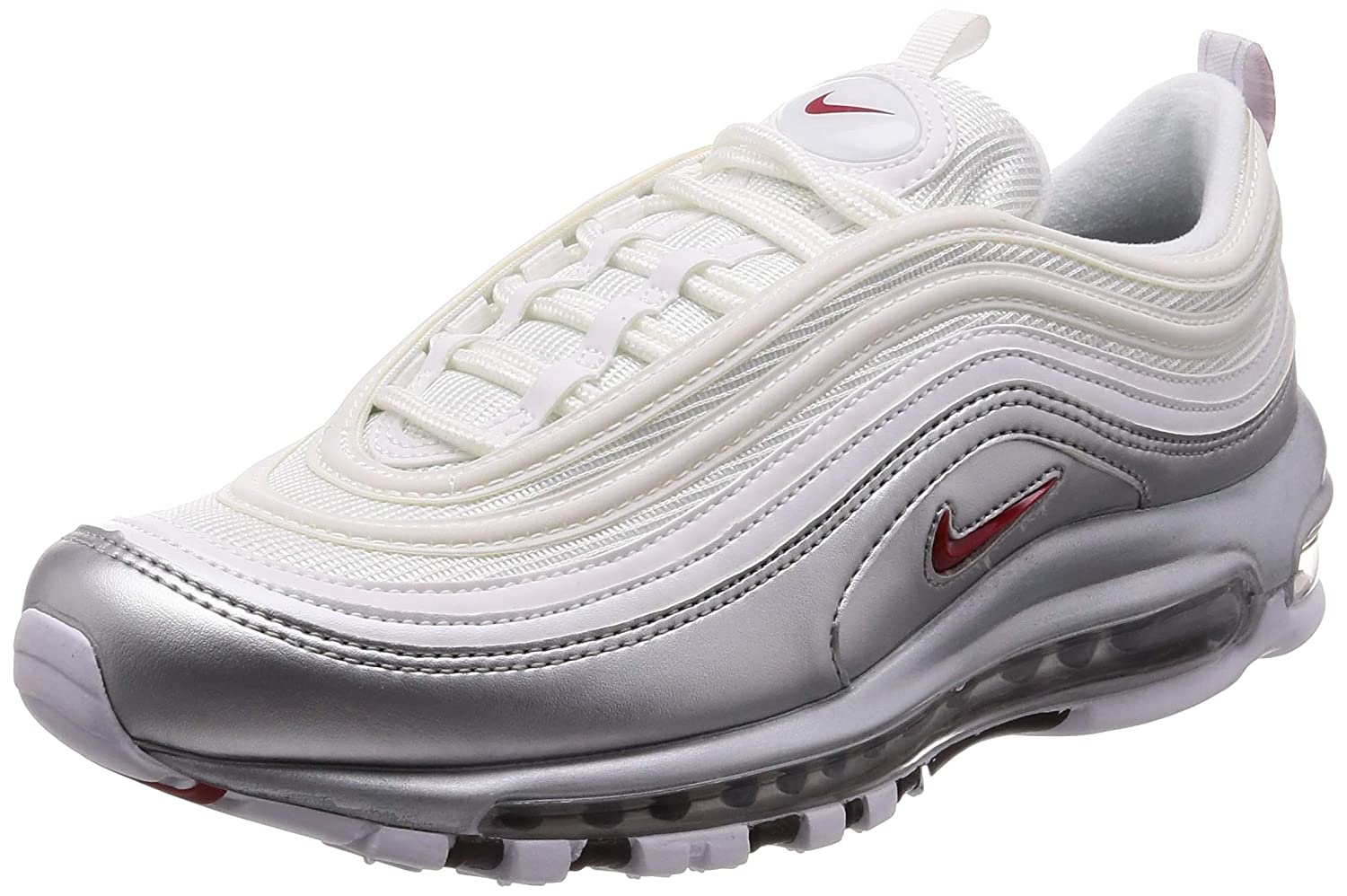 012dd361bc Amazon.com | Nike Mens Air Max 97 QS White/Varsity-Red Synthetic | Shoes