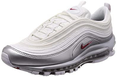 half off b0e0d 131b2 Amazon.com | Nike Mens Air Max 97 QS White/Varsity-Red Synthetic | Shoes