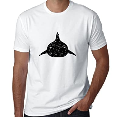 Cool Shark Dorsal Fin Silhouette Mens T-Shirt