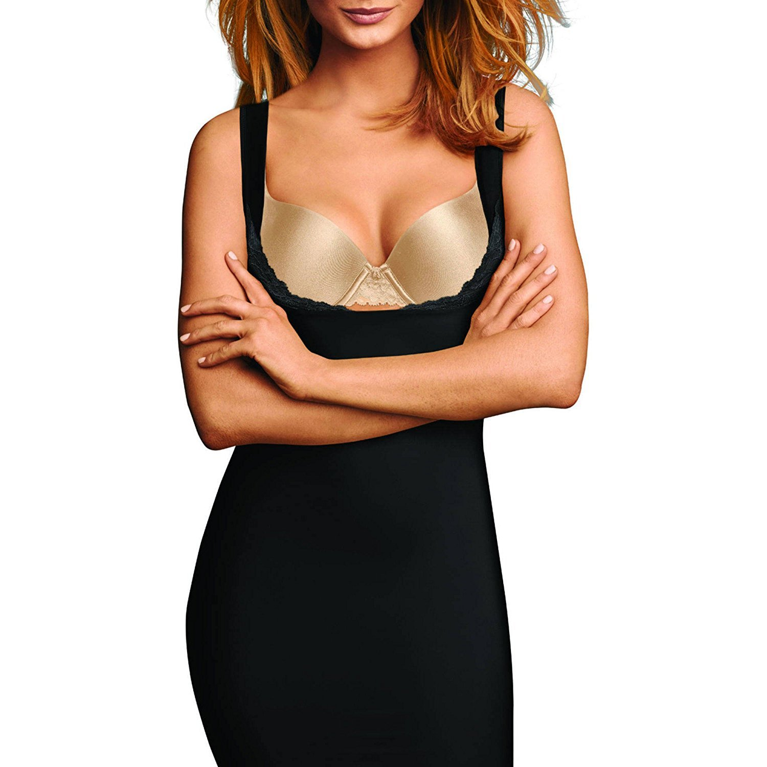 Flexees by Maidenform Firm Control WYOB Full Slip, Style 1269 (Small, Black)