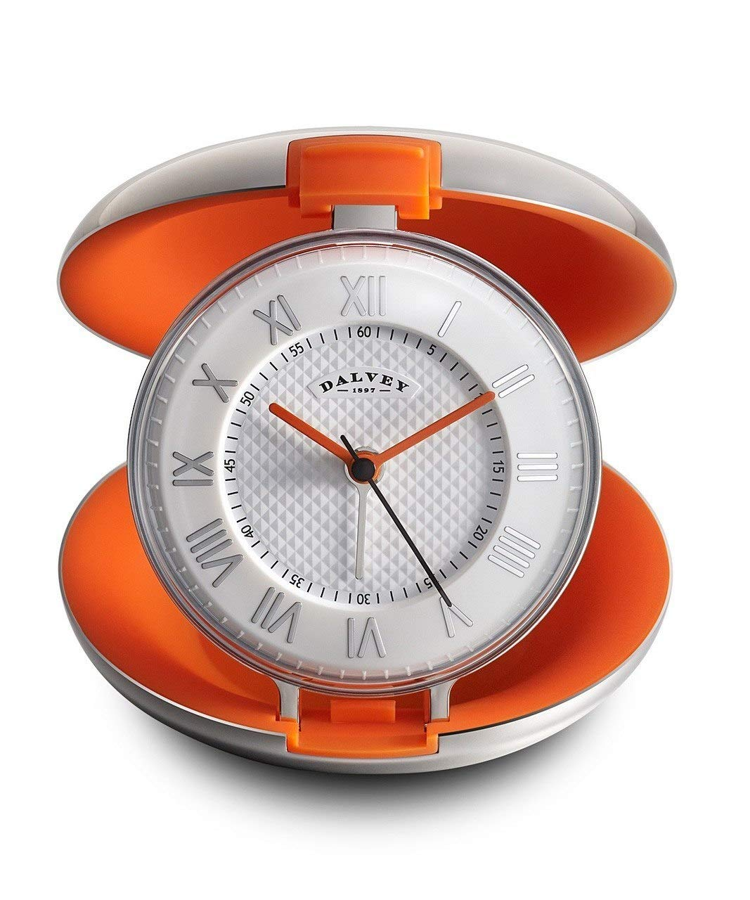 Dalvey Capsule Clock in Orange