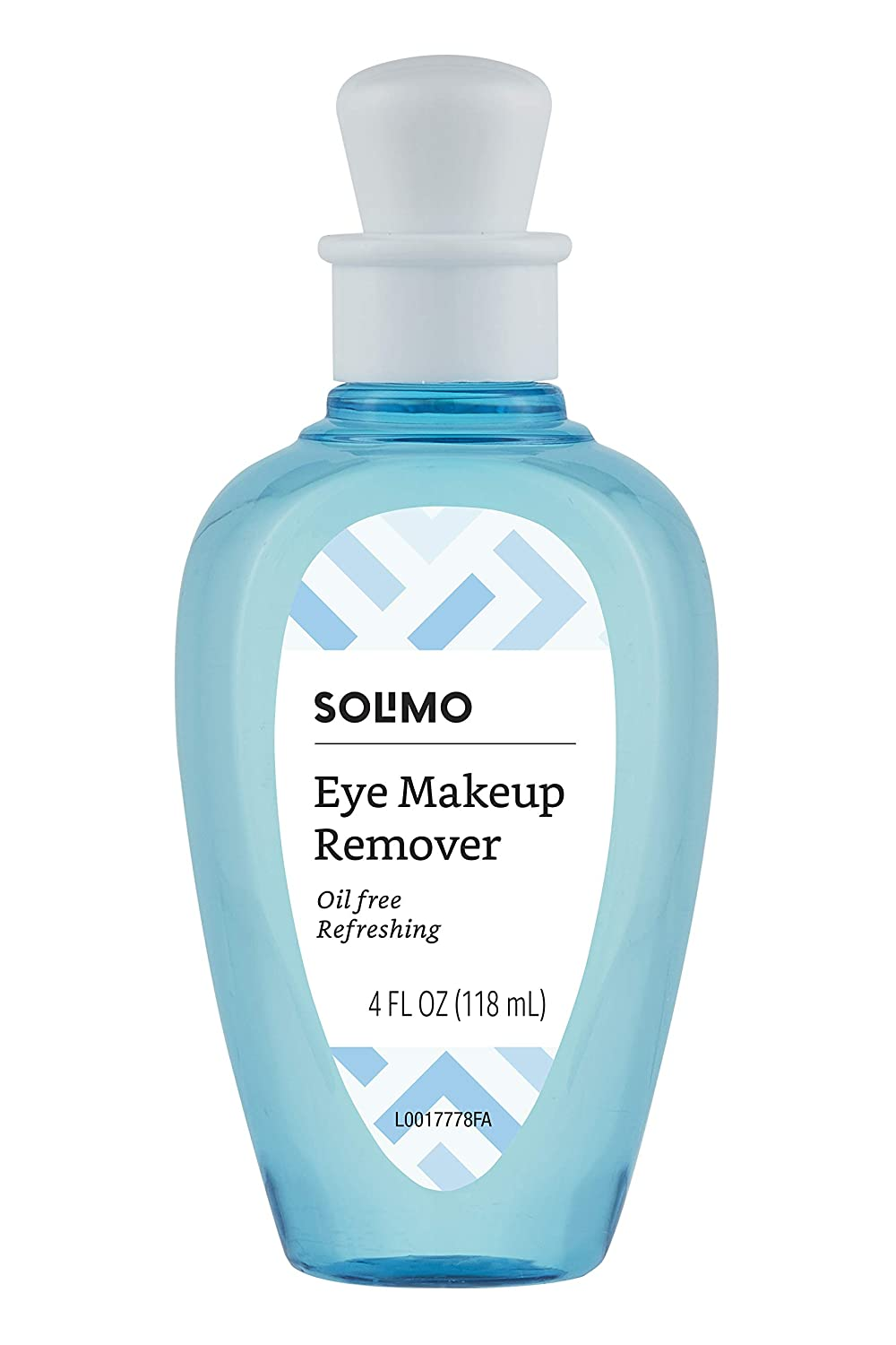 Amazon Brand - Solimo Oil-Free Eye Makeup Remover, 4 Fluid Ounce