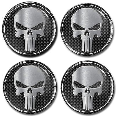 4 x 68mm 3D Stickers for Wheel Center Caps A 268: Automotive