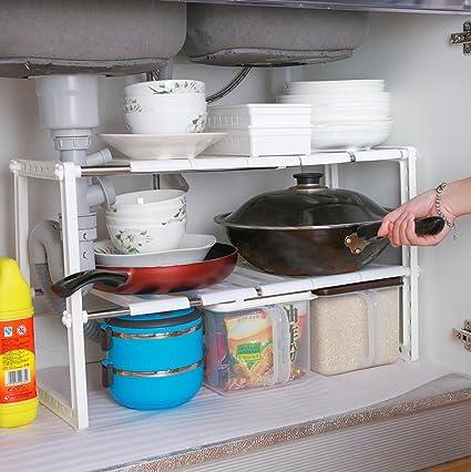 Adjustable And Expandable Under Sink Organizer/ Under Sink Shelf/ Under Sink  Rack (