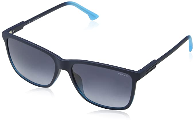 Police Wave 1 Gafas de sol, Azul (Dark Gradient Light Blue), 57 para Hombre