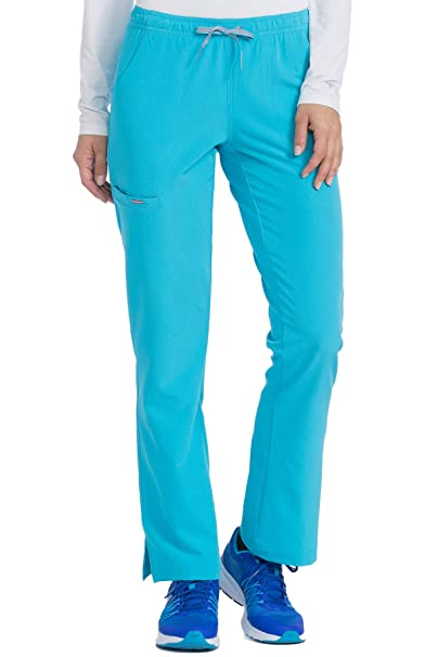 5b13658fbde Med Couture Women's 'Air Collection' Cloud 9 Scrub Pant, Turquoise/Apricot,