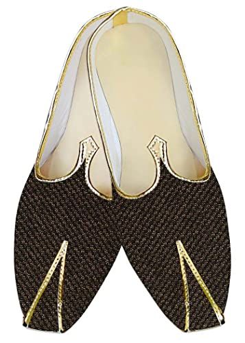 Mens Olive Drab Jute Wedding Shoes Bollywood MJ013938