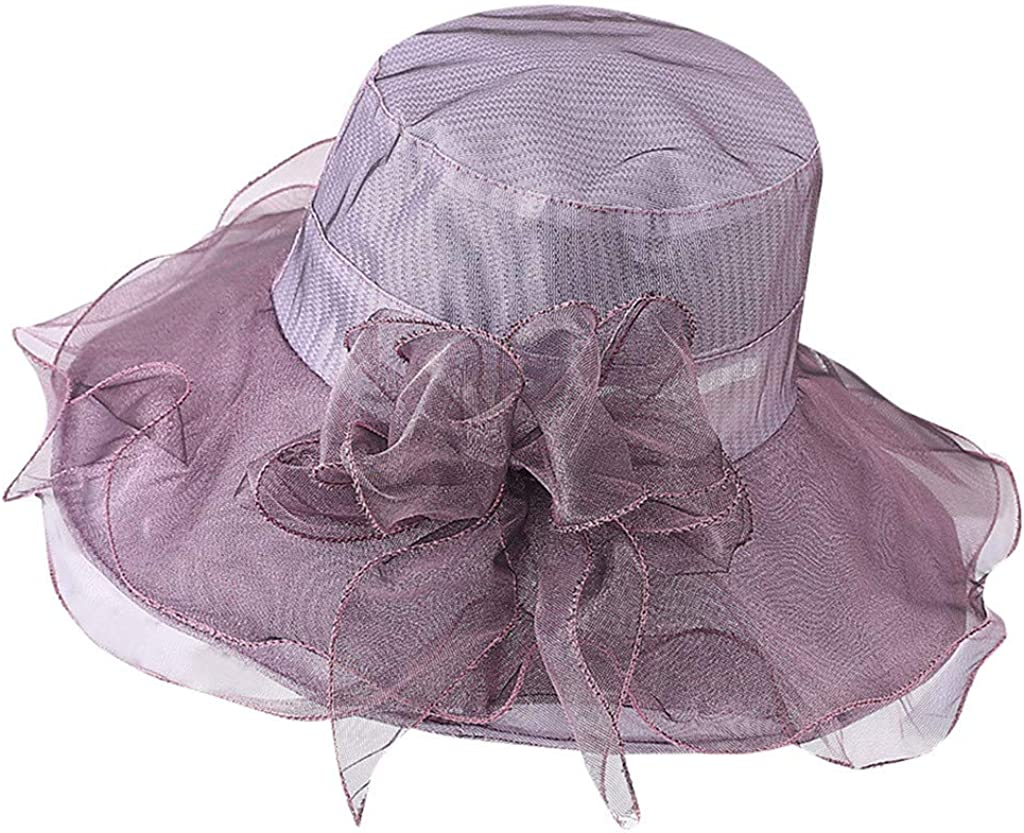 hositor Kentucky Derby Hat, Women's Organza Church Kentucky Derby Fascinator Bridal Tea Party Wedding Hat