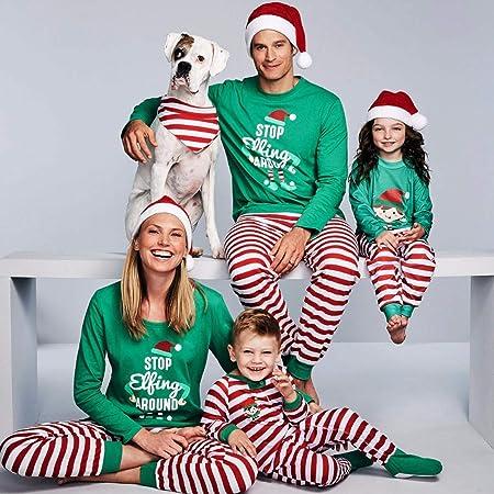HaIIeed 2019 Pijamas Familiares Navidad Alrededor Pijamas ...