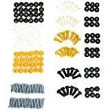All Trade Direct 144 Pcs Number Plate Caps Screws Bolts Nuts Fitting Fix