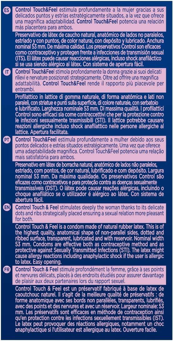 71vo3PSFW6L._AC_SL1200_ Control Sensual Dot&lines Preservativos - Caja de Condones con Puntos y Estrías, 24 Unidades (Pack Ahorro):: Salud y cuidado personal