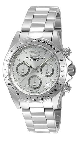 Invicta 14381 Speedway Reloj Unisex acero inoxidable Cuarzo Esfera plata: Amazon.es: Relojes