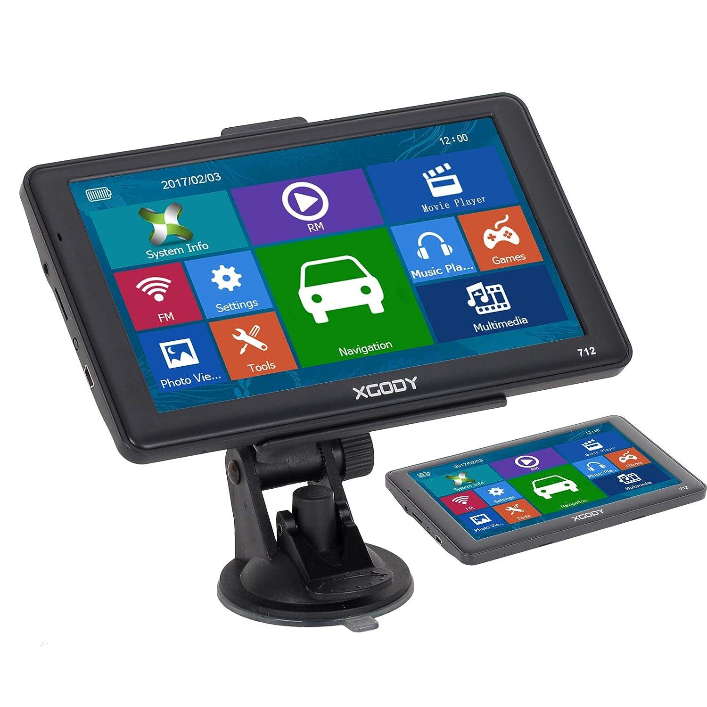 XGODY 712 GPS Système de Navigation GPS 7' 8 Go 256 Mo pour Voiture avec Code Postal, Code Postal, radars pré-installés pour l'europe et Le Royaume-Uni