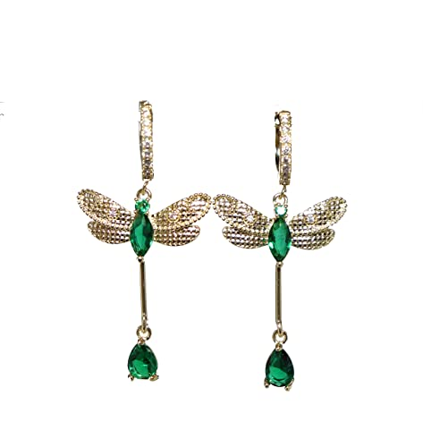 NEW Fashion 925 Sterling Silver AAA CZ Dragonfly Stud Earrings FREE SHIPPING