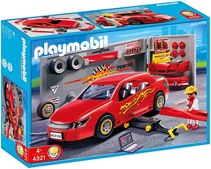garage-small workshop grey wall for of 4321 tunning r3205 Playmobil