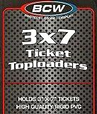 2 Packs 50 Ticket 3X7 Toploaders