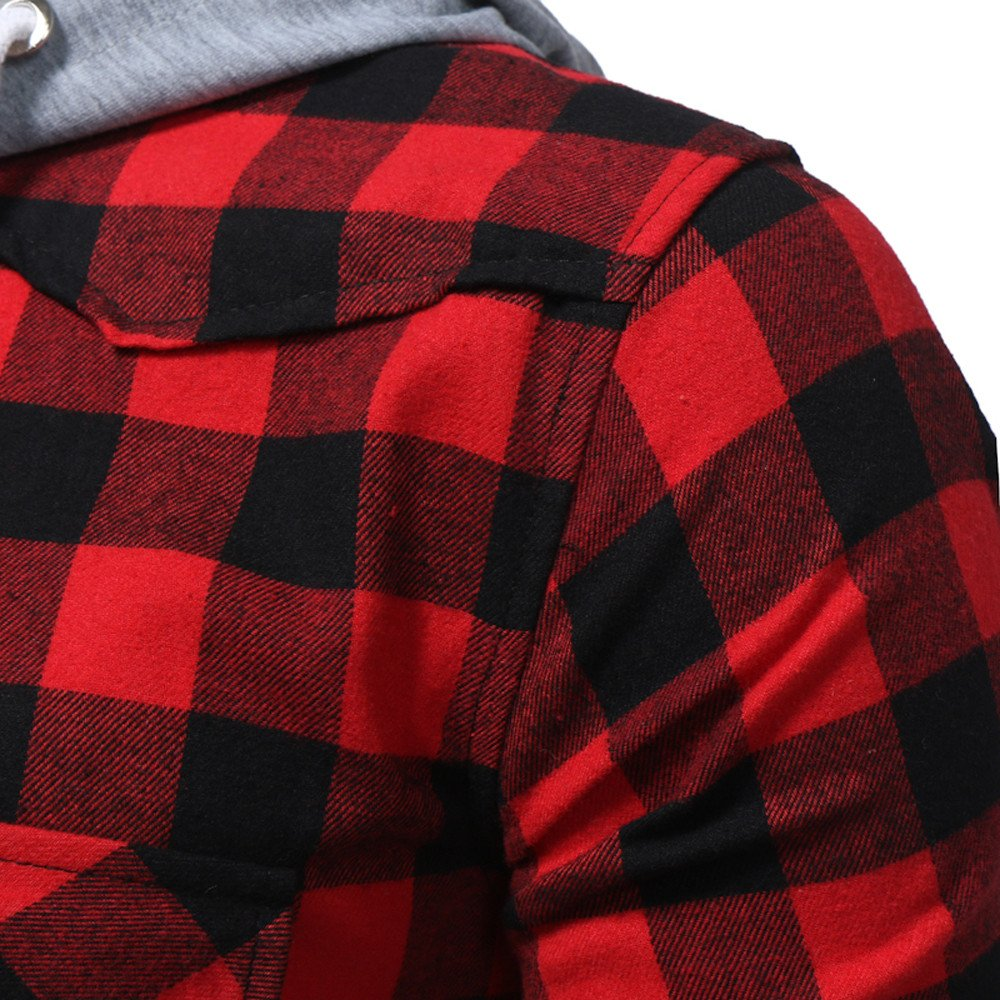 Amazon.com: Hot New! Lattice Hoodie, Mens Casual Cotton Plaid Printed Hooded Jacket Plus Size Slim Outwear: Clothing