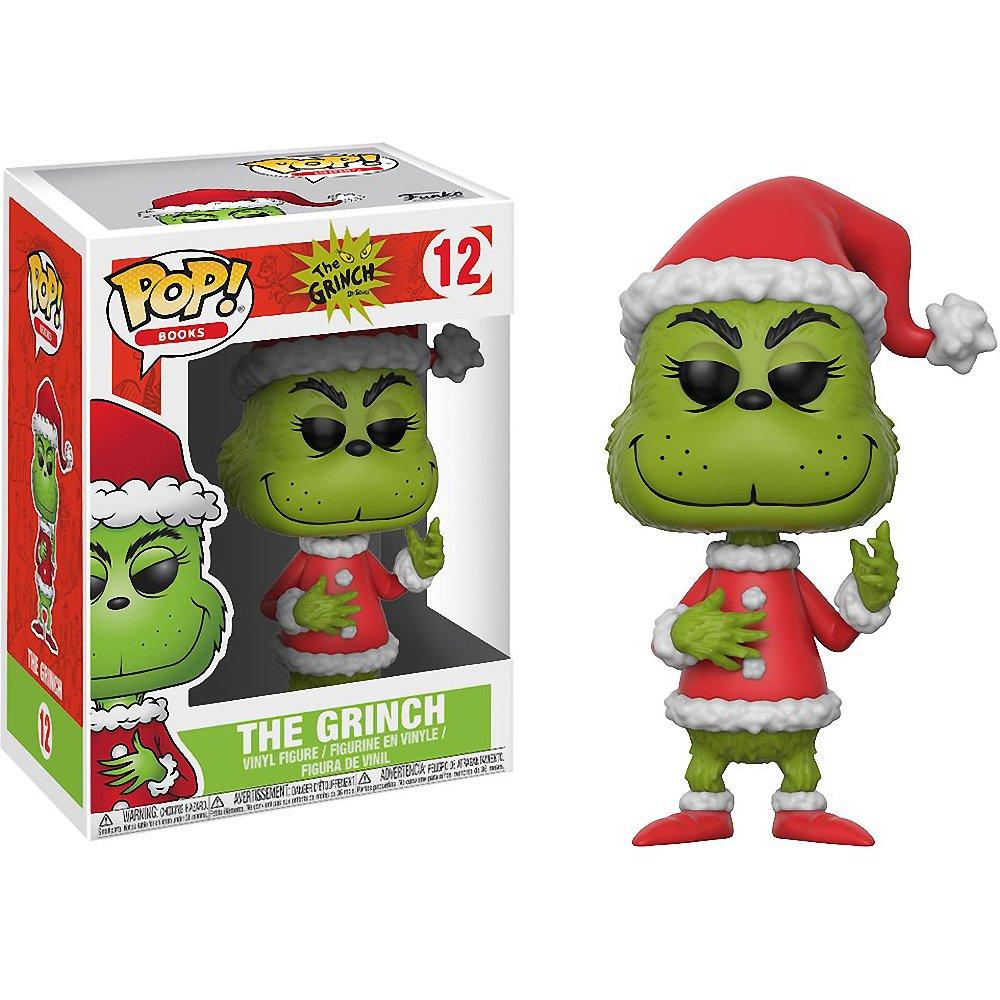 BCC9408222 The Grinch : Dr #012 // 21745 - B Book Vinyl Figure /& 1 PET Plastic Graphical Protector Bundle Santa Seuss x Funko POP