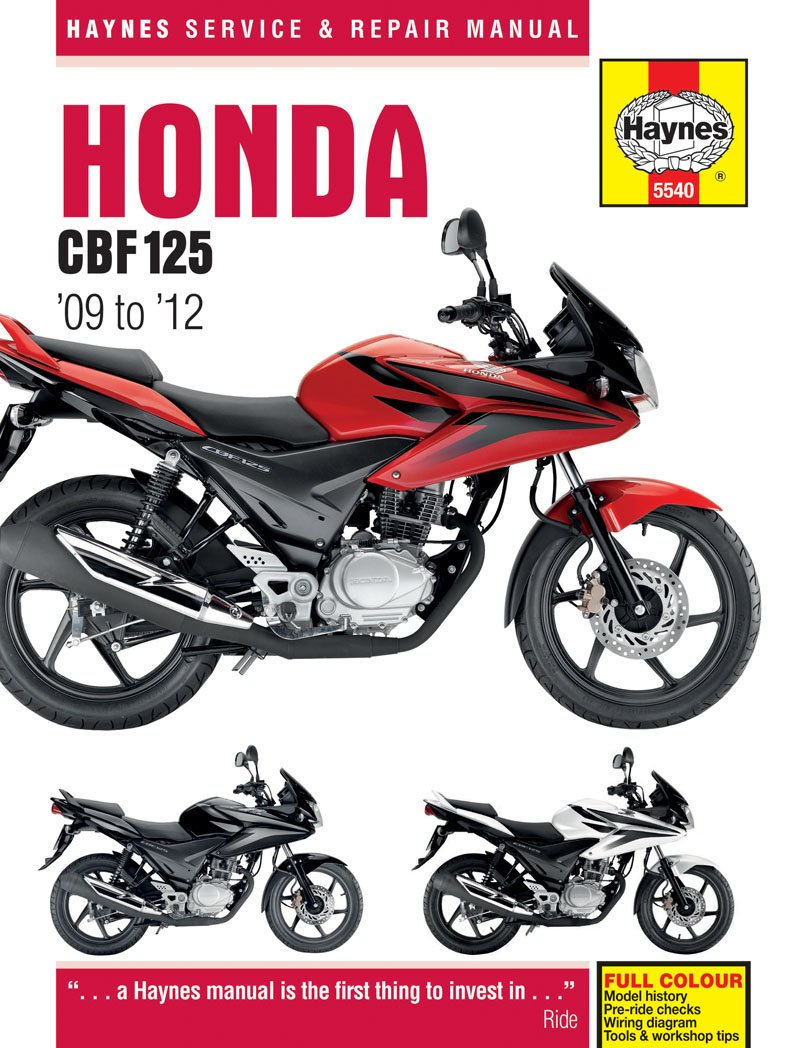 Haynes Manual 5540 Honda CBF125 & XR125L (09-12): Amazon.co.uk: Car &  Motorbike