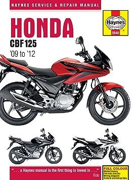 honda cbf125 service repair shop manual