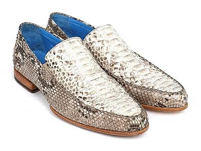 d79a0094f122c Paul Parkman Men's Natural Genuine Python Loafers Shoes (ID#11NAT78) Size 6  D