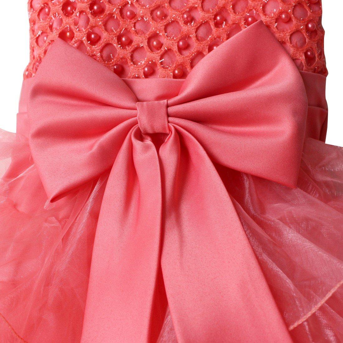 TiaoBug Baby Girls Flower Wedding Pageant Princess Bowknot Communion Party Dress