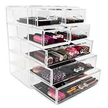 Perfect Sorbus Cosmetics Makeup And Jewelry Big Storage Case Display  3 Large And 4  Small Drawers
