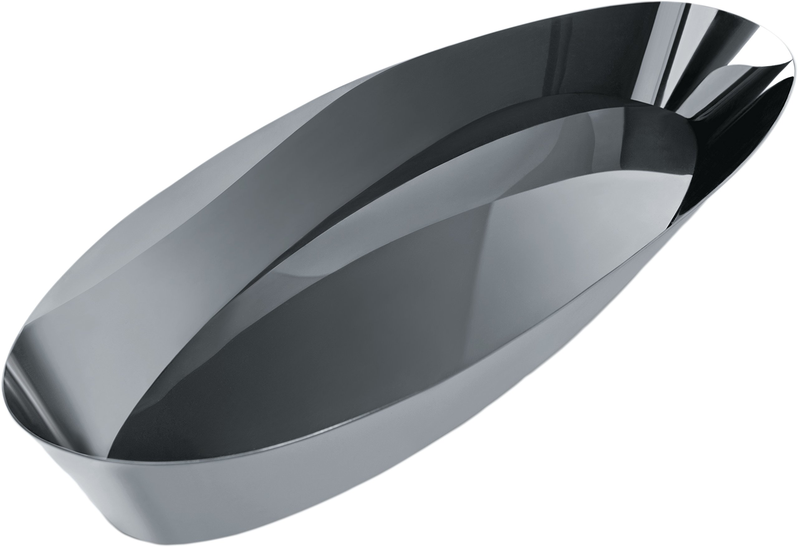 Alessi ''Pinpin'' Bread Basket in 18/10 Stainless Steel Mirror Polished, Silver