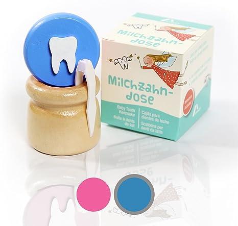 Amazy Caja para dientes de leche (Pequeña   Azul) Incl. pinza y ...