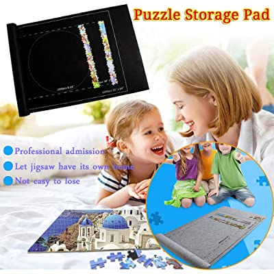 NEW Jigsaw Puzzle Roll Mat Felt Mat for Puzzle Storage Puzzle Saver Up to1500 Pieces,Long Box Package, No Folded Creases,Environmentally Friendly,Large Puzzles Board for Adults Kids,Storage Puzzle (A): Sports & Outdoors