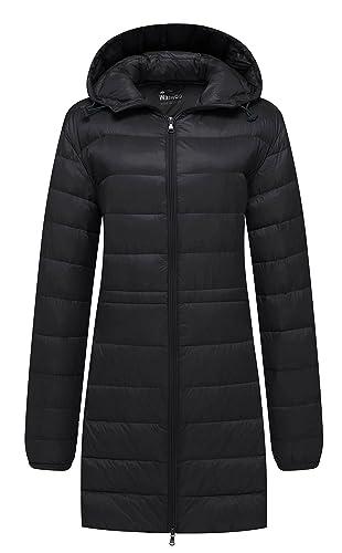 Wantdo Chaqueta de invierno para mujer con capucha y capucha