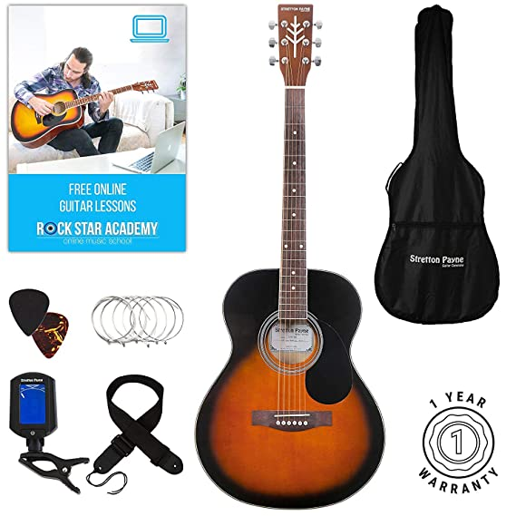 Clearance Stock - Guitarra acústica, SPF1SB-AB: Amazon.es ...