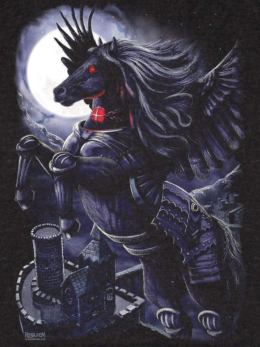 Requiem Collective Mens Prince of Demons Hoodie Black Smoke