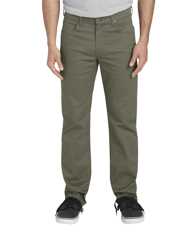 2af23076 Amazon.com: Dickies Men's Flex Regular Fit Straight Leg 5-Pocket Pants:  Clothing