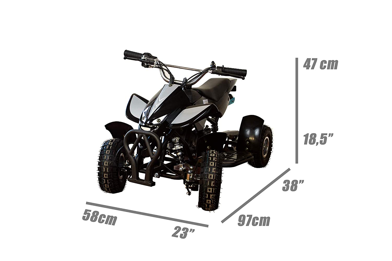AIREL Quad Gasolina | Quad Gasolina Niño | Quad Gasolina 49CC | Mini Quad Niño | Mini Quad 49 CC | Mini Quad Gasolina: Amazon.es: Coche y moto