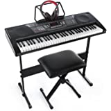 Joy JK-66M 61-Key Simulation Piano  Electronic Keyboard  Kit Including USB for Beginners,with Headphone,Stand,Stool,Power Suppply
