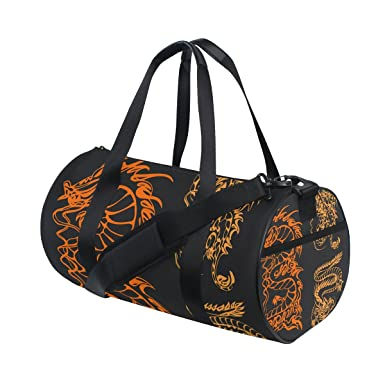 f5d320d56f Image Unavailable. Image not available for. Color: Gym Bag Chinese Ancient  Dragon Sports Travel Duffel ...