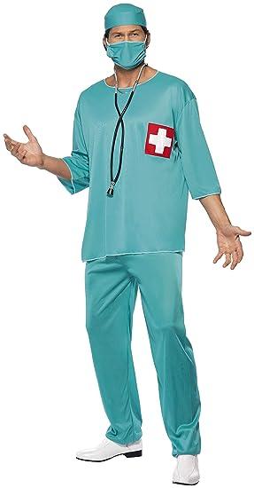 Smiffys Smiffys-21781L Disfraz de Cirujano, con túnica ...