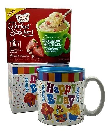 Feliz cumpleaños taza en caja de regalo con 4 taza Cake Mix ...