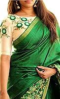 Fabdiamond Women's Cotton Wallet Saree (Madhubni-Grn_Green)