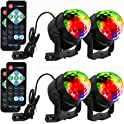 4-Pack LUNSY LED Sound Activated dj Lights with Remote Control
