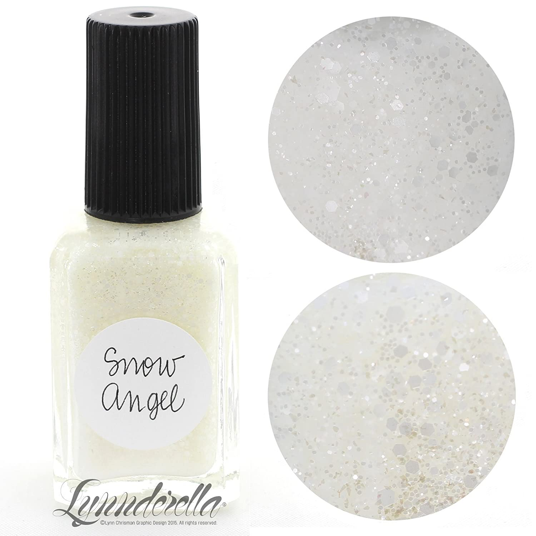 Amazon.com: Lynnderella White Glitter Nail Polish—Snow Angel: Handmade