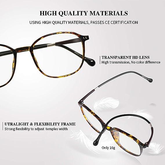 PORPEE Gafas de Ordenador, Gafas Filtro Luz Azul - Protección para Pantalla/Móvil/Tablet/TV - Evita la Fatiga Ocular - Gafas Video Juegos: Amazon.es: Ropa y accesorios