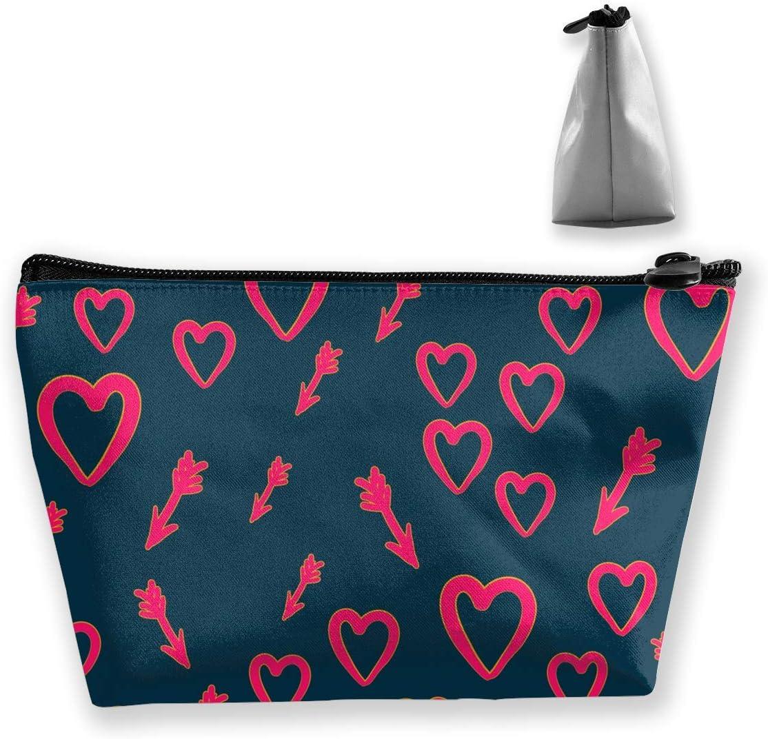 Bolsa de cosméticos con forma de corazón con flechas de Cupido, bolsa de almacenamiento de maquillaje, organizador de cosméticos, bolso de mano: Amazon.es: Belleza