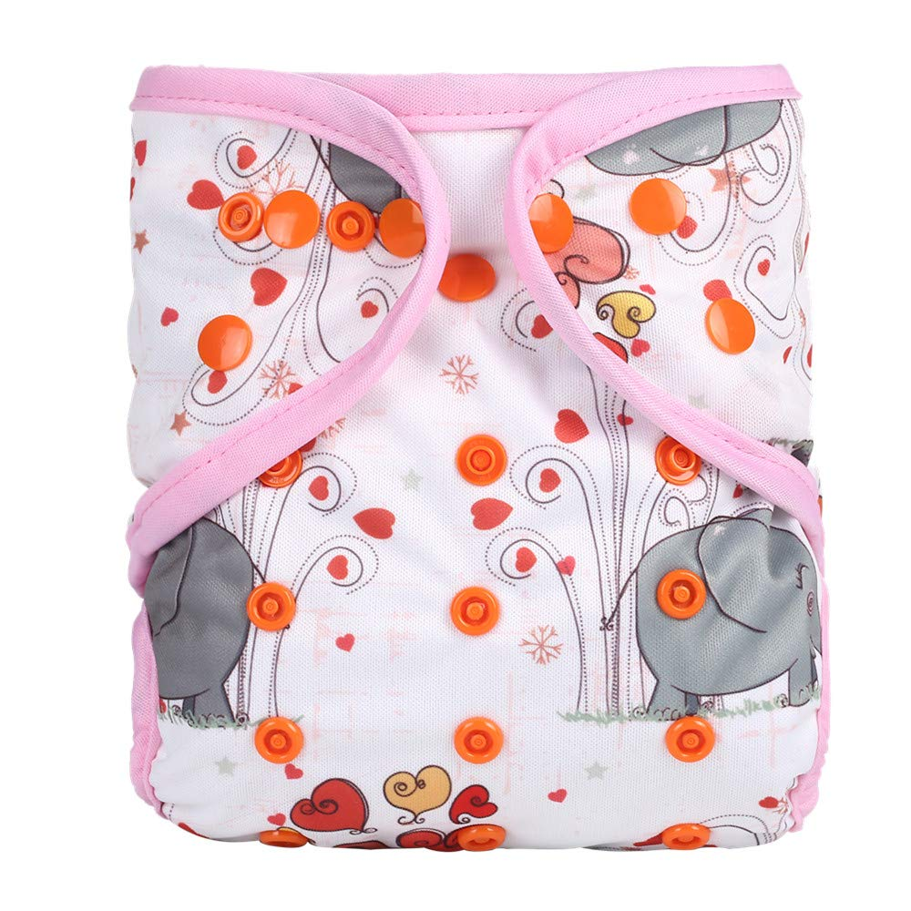 Color NO14 Simfamily 2 Pack Reusable Waterproof Cloth Diaper Wet Bag with Zipper