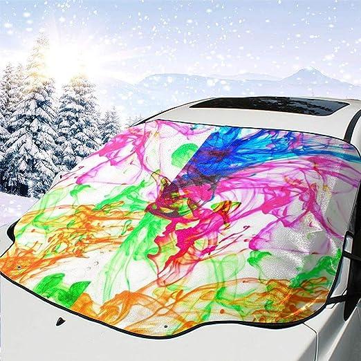 Pecostar Auto Snee Abdeckung Bunte Farbe Eis Schnee Frost Abdeckung Für Die Windschutzscheibe Auto Sonnenschutz Für Eis Schnee Frost Uv Schutz Wasserdichte Schutzabdeckungen Passend Für Die Meisten Standard Autos Auto